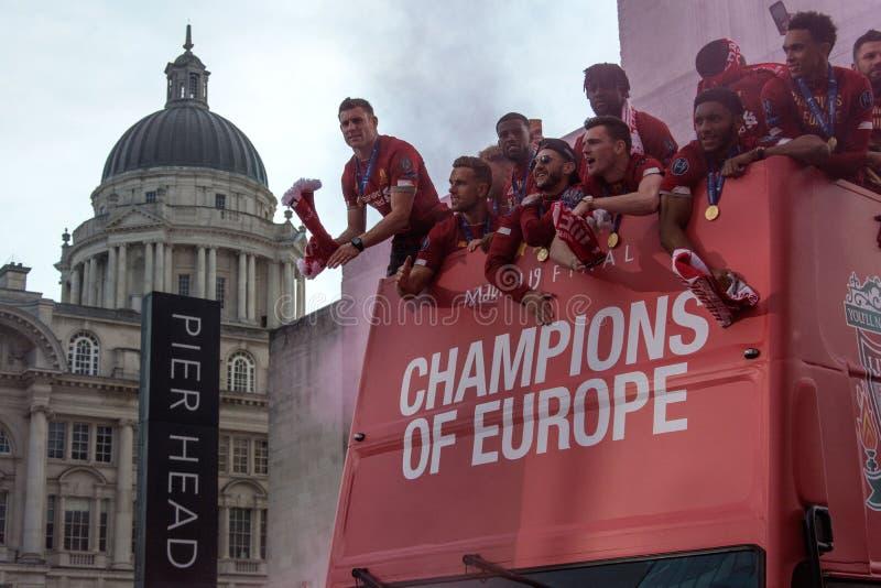 Чемпионы клуба футбола Европы Ливерпуля стоковые изображения rf