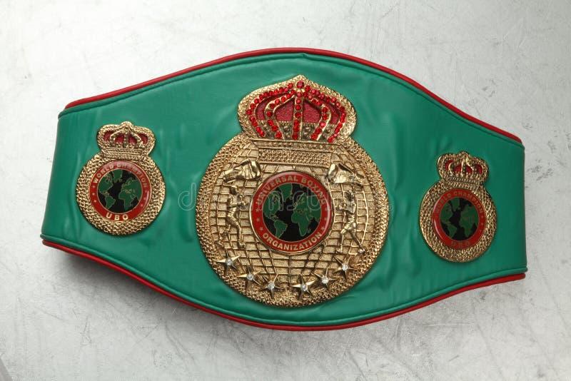 Чемпион бокса пояса мира UBO стоковое фото