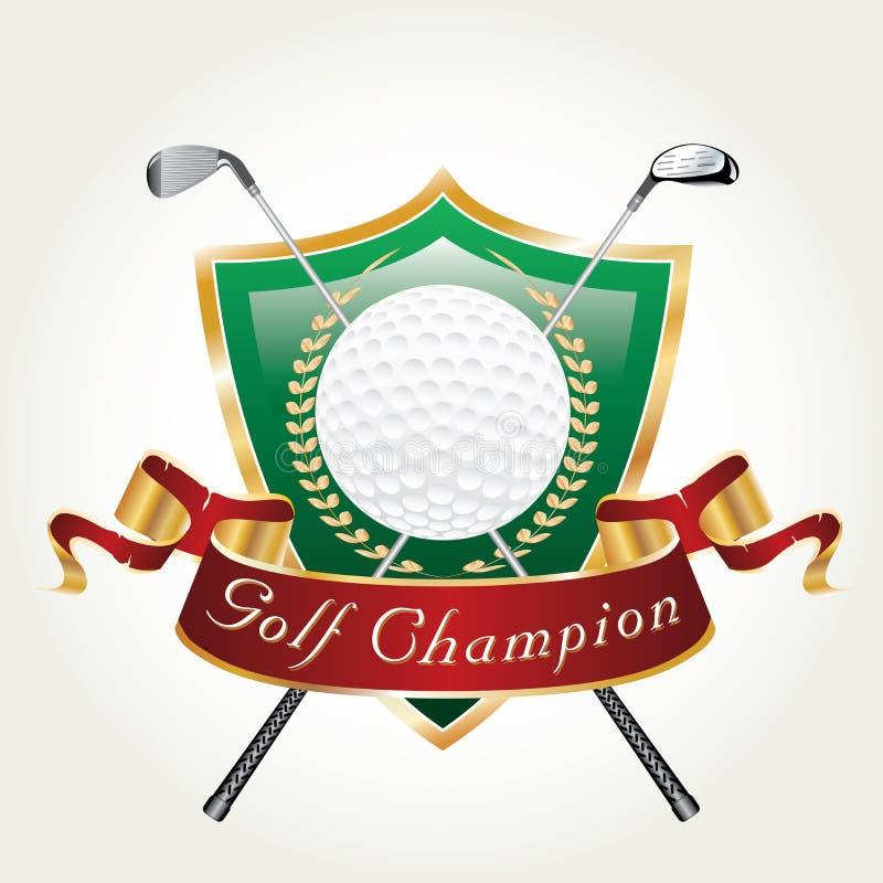 Чемпион игрока в гольф иллюстрация вектора