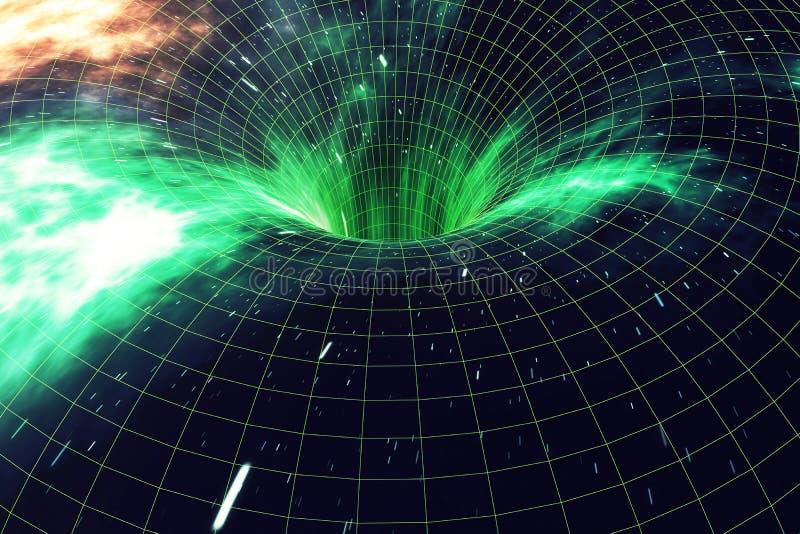 через вселенный Путешествовать в космосе Перемещение времени Сцена преодолевать временный космос в космосе перевод 3d иллюстрация штока