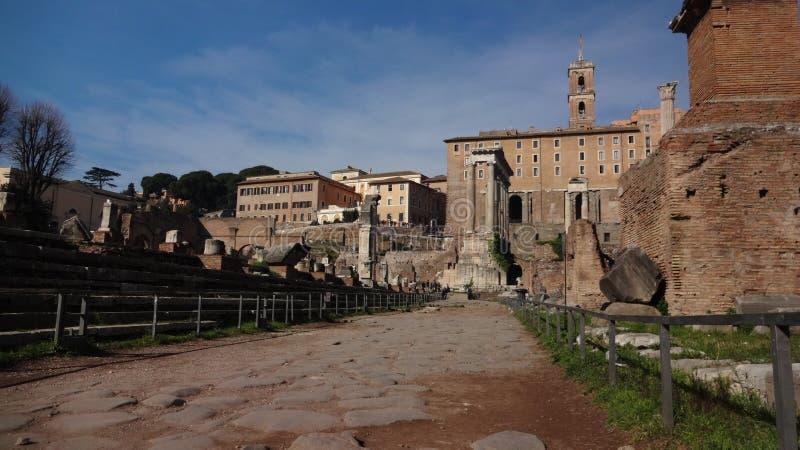 Через крестцы, Roma стоковое изображение rf
