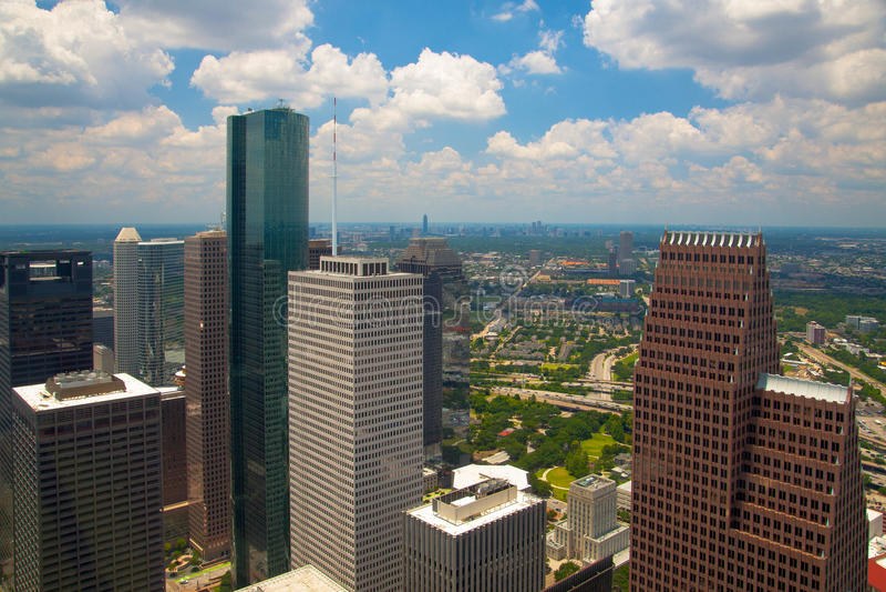 Через небоскребы стоковое фото rf