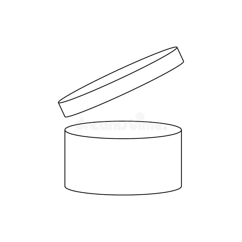 Через период после открытия символа PAO Полезная продолжительность жизни косметик после того как пакет раскрытый знак Черный рису иллюстрация вектора