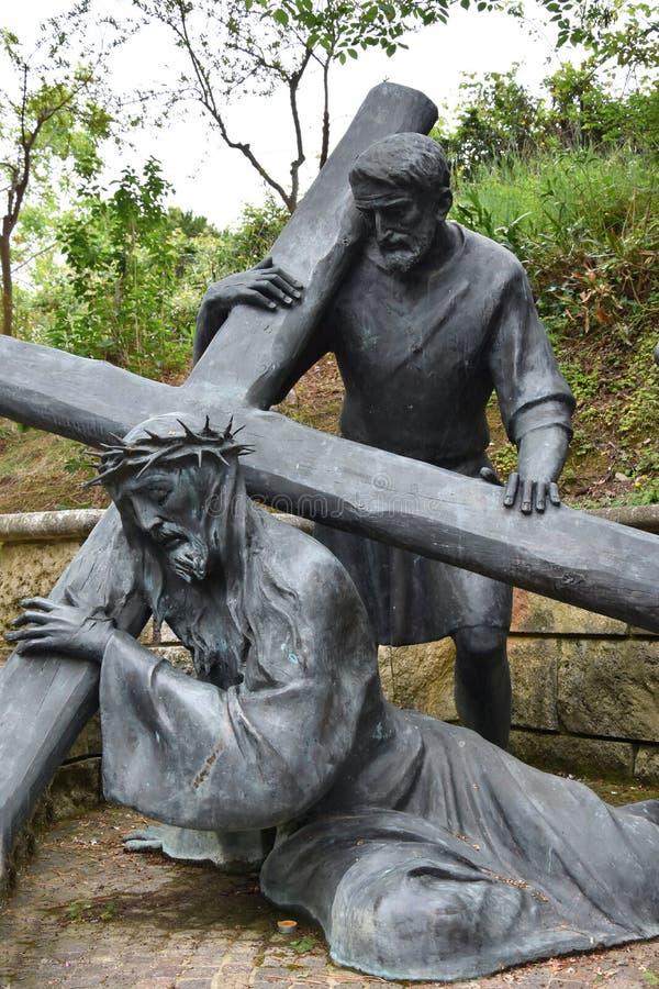 Через bartolino или через crucis в Giulianova стоковое фото