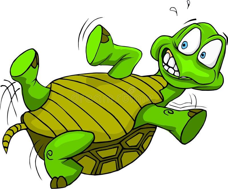 Черепаха вверх ногами бесплатная иллюстрация