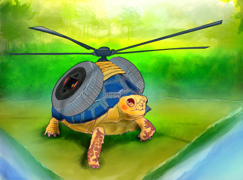 Черепаха летания стоковые изображения