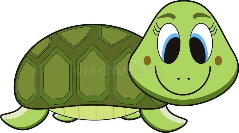 черепаха шаржа иллюстрация вектора
