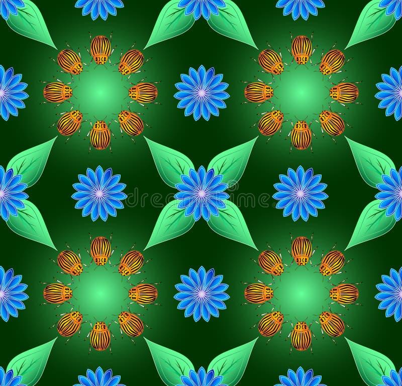черепашка colorado предпосылки безшовный бесплатная иллюстрация