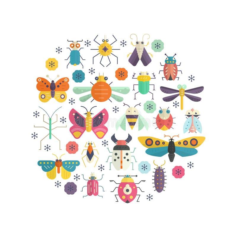 Черепашки в круге бесплатная иллюстрация