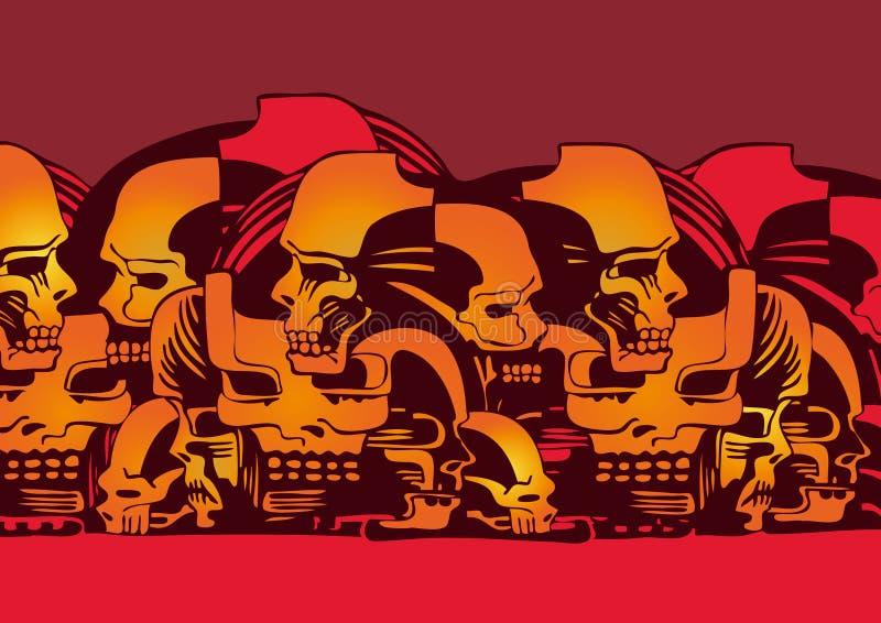 черепа состава предпосылки бесплатная иллюстрация