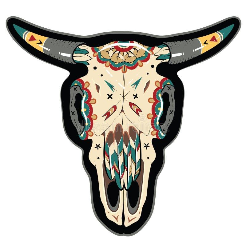 Череп буйвола бесплатная иллюстрация