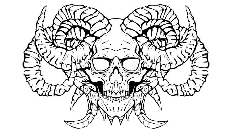 Череп демона бесплатная иллюстрация