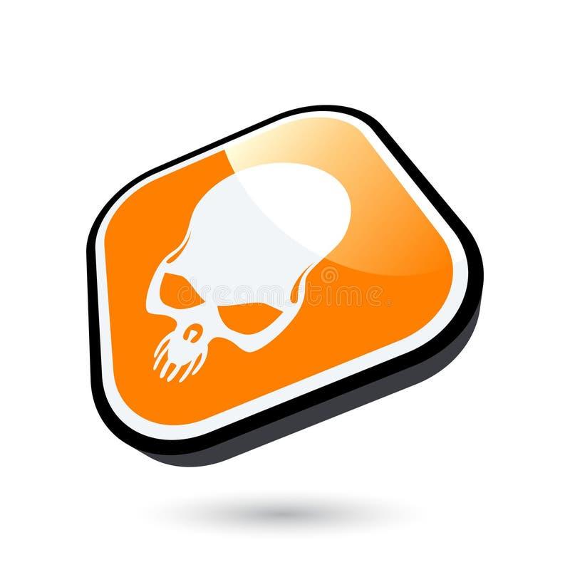 череп иконы опасности иллюстрация штока