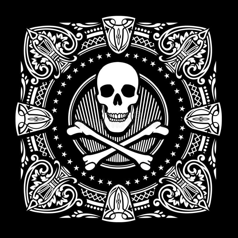 Перекрещенные кости и богато украшенный лопаты бесплатная иллюстрация