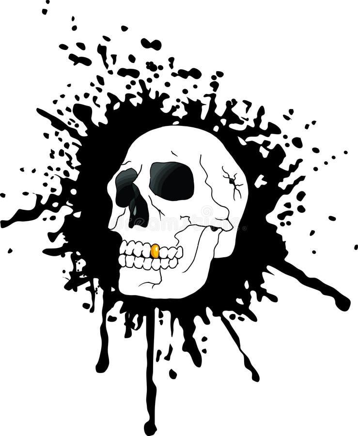 Череп и кровь иллюстрация вектора
