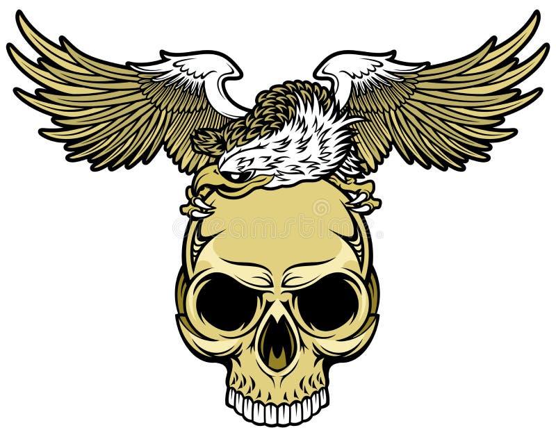 Череп и орел иллюстрация штока