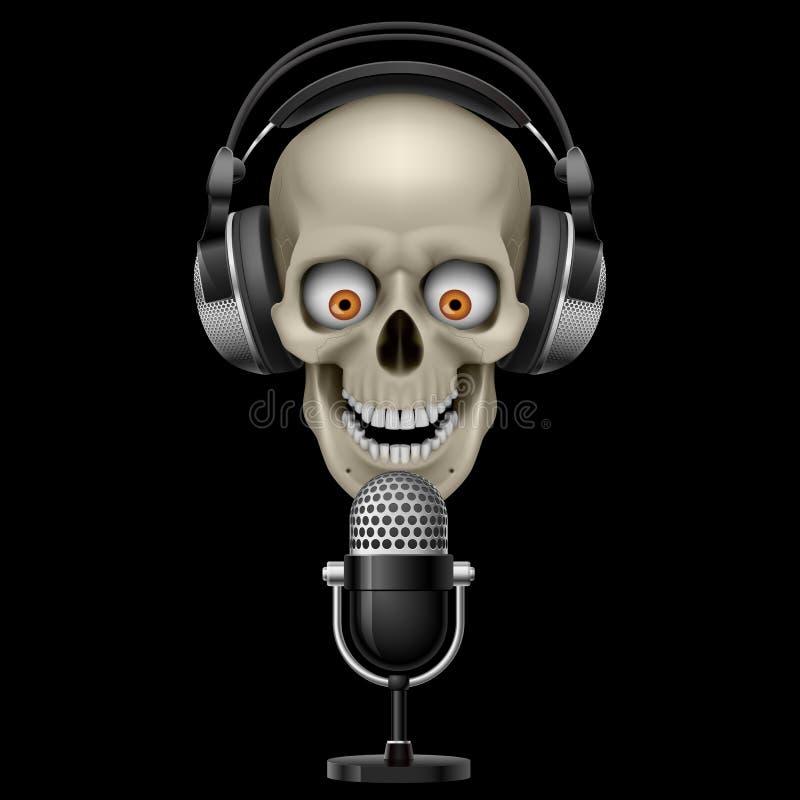 череп микрофона наушников бесплатная иллюстрация