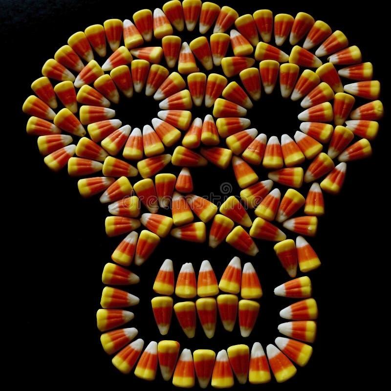 Череп мозоли конфеты стоковые фотографии rf