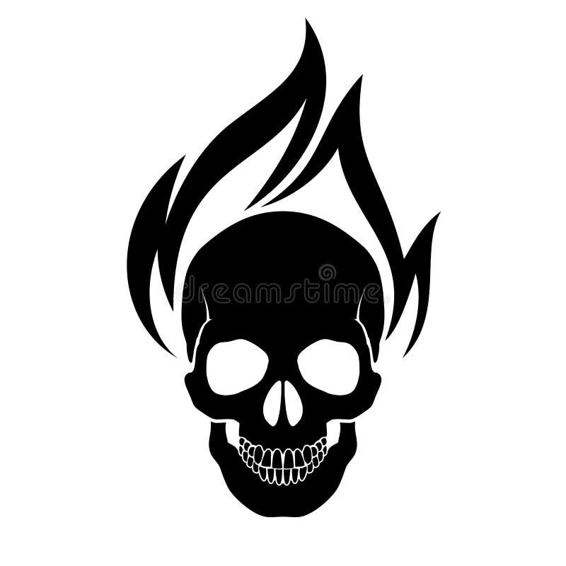 Череп на пожаре бесплатная иллюстрация