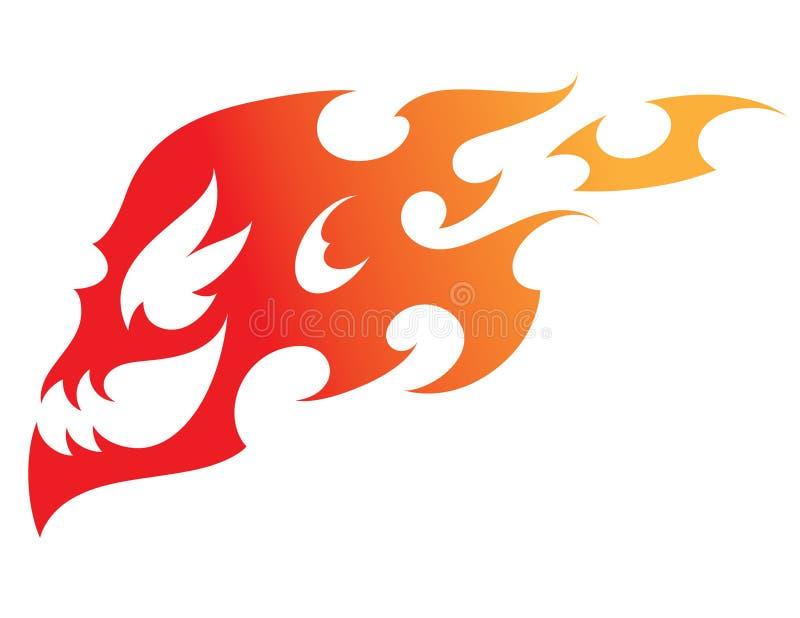 череп пожара иллюстрация вектора