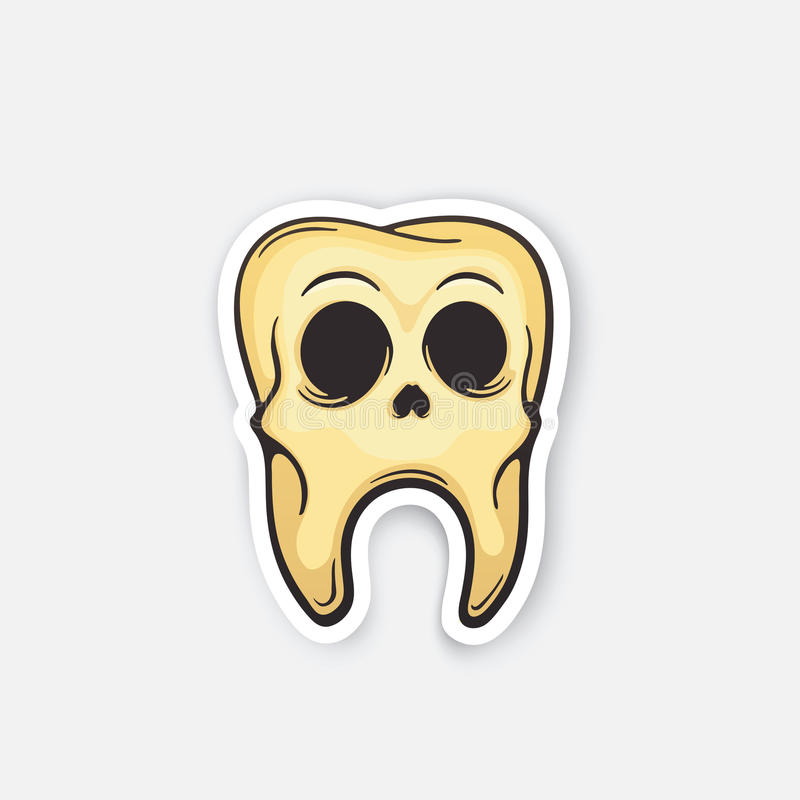 Череп стикера зуба бесплатная иллюстрация