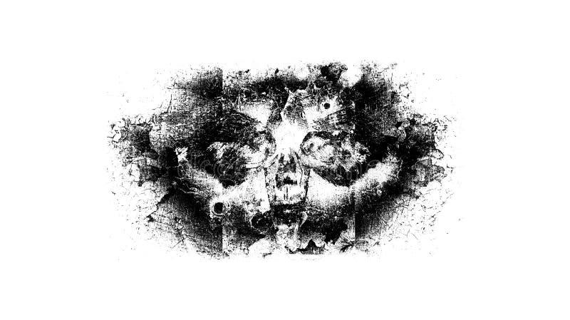 Череп сумеречницы Grunge стоковое фото