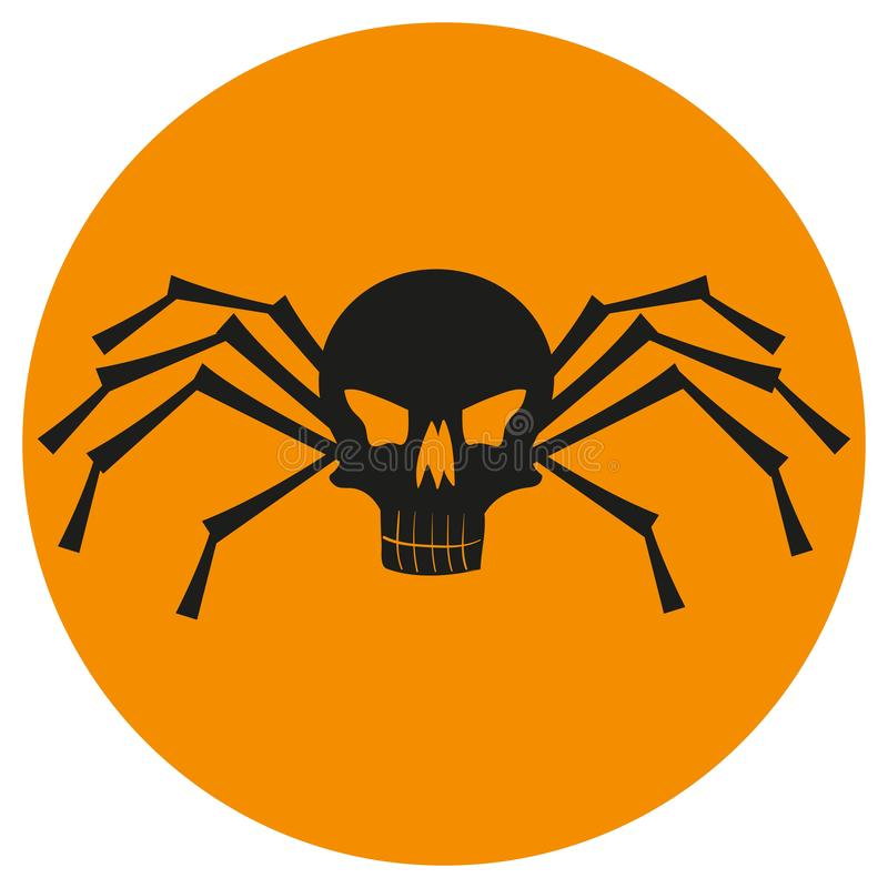Череп с ногами паука иллюстрация вектора
