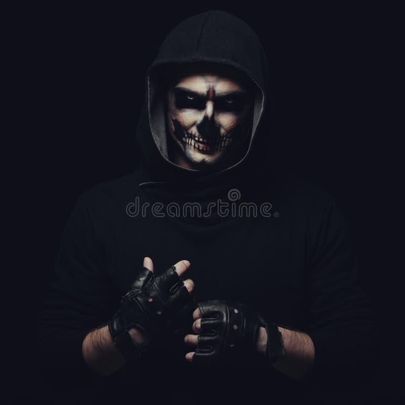Череп хеллоуина стоковая фотография rf