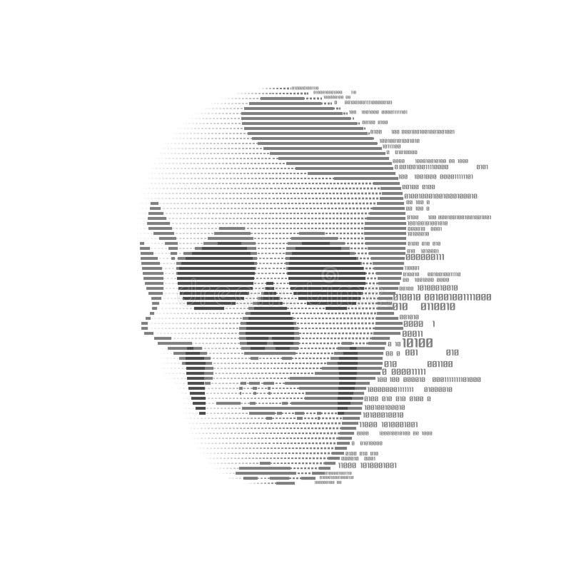 Череп цифров иллюстрация вектора