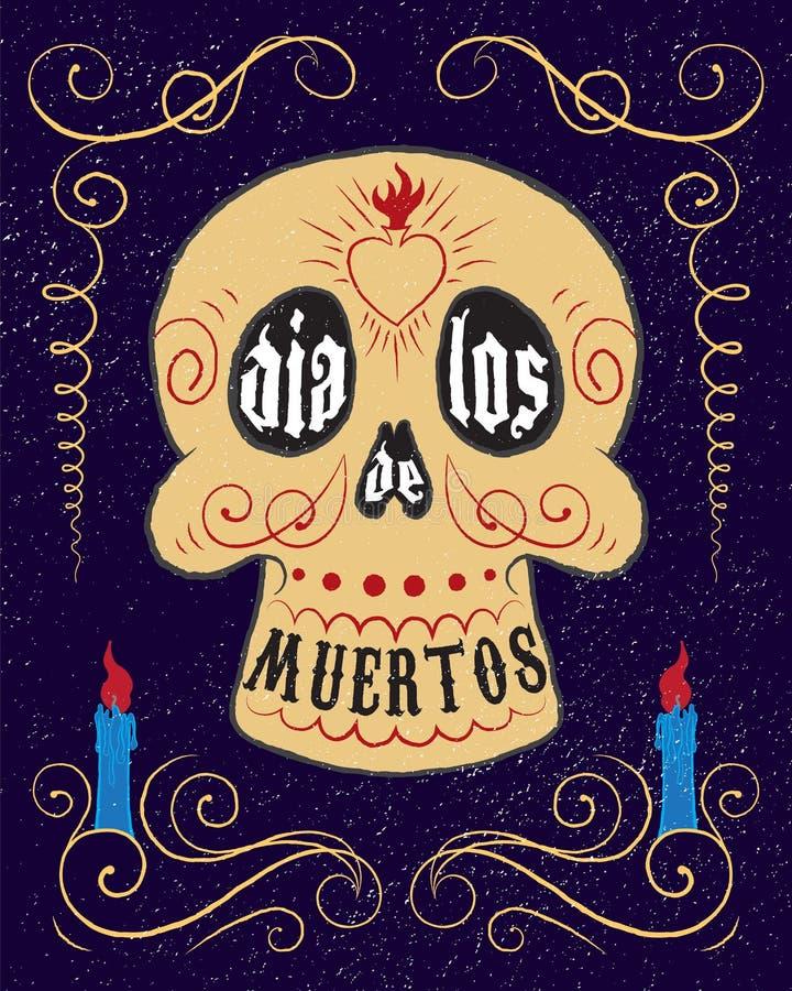 Череп Dia de los muertos бесплатная иллюстрация