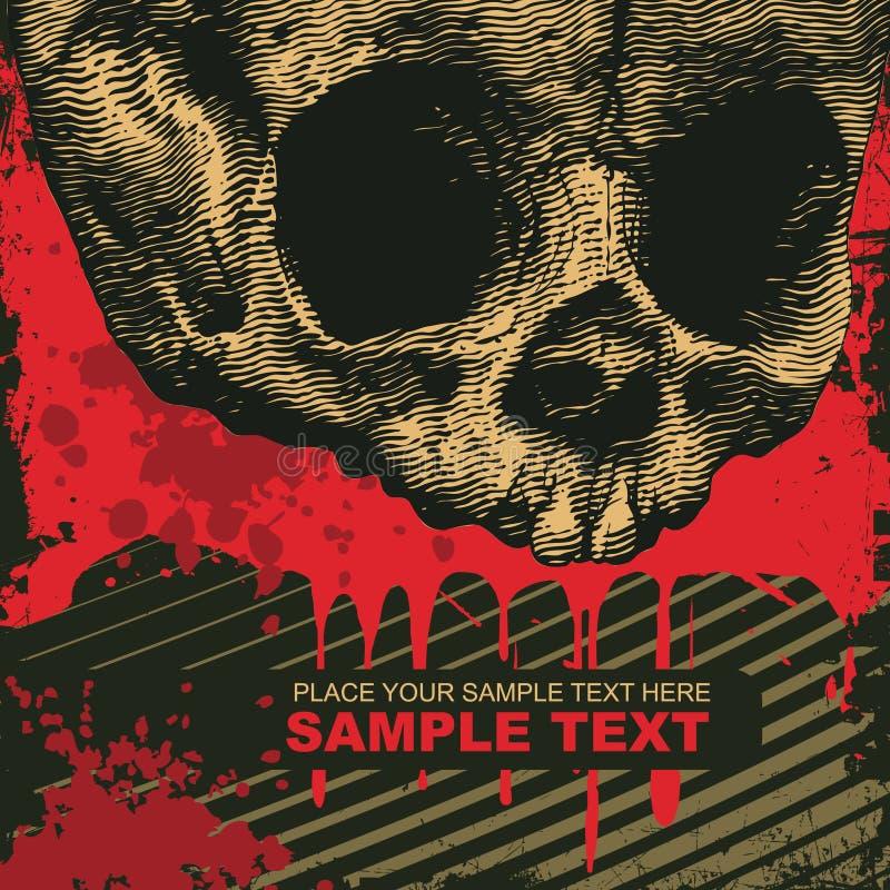 череп grunge предпосылки бесплатная иллюстрация