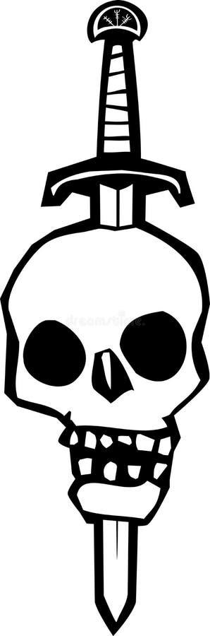 Download Череп Impaled на шпаге иллюстрация вектора. иллюстрации насчитывающей пытка - 41660460