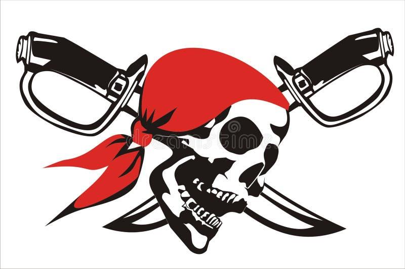 череп pirat стоковое фото