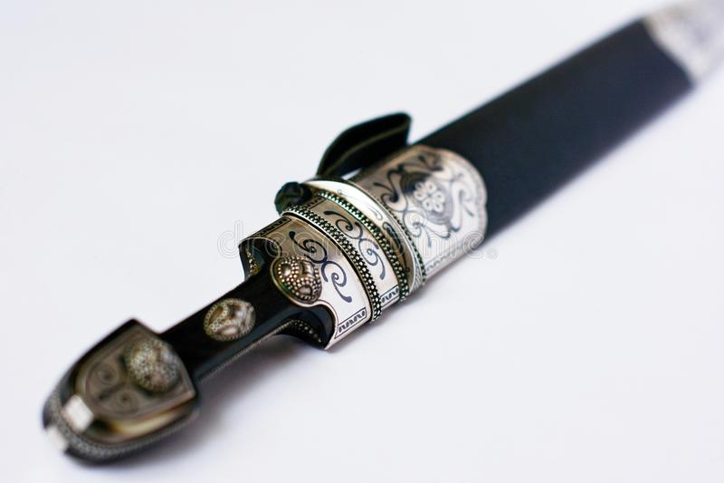 Черкесский кинжал в ножнах стоковая фотография