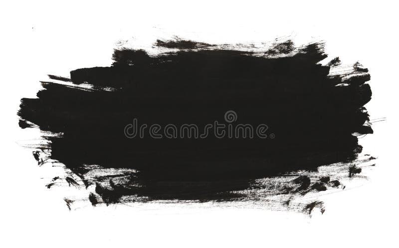 Черная абстрактная кисть акварели бесплатная иллюстрация