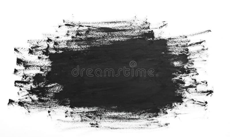 Черная абстрактная текстура кисти акварели иллюстрация штока