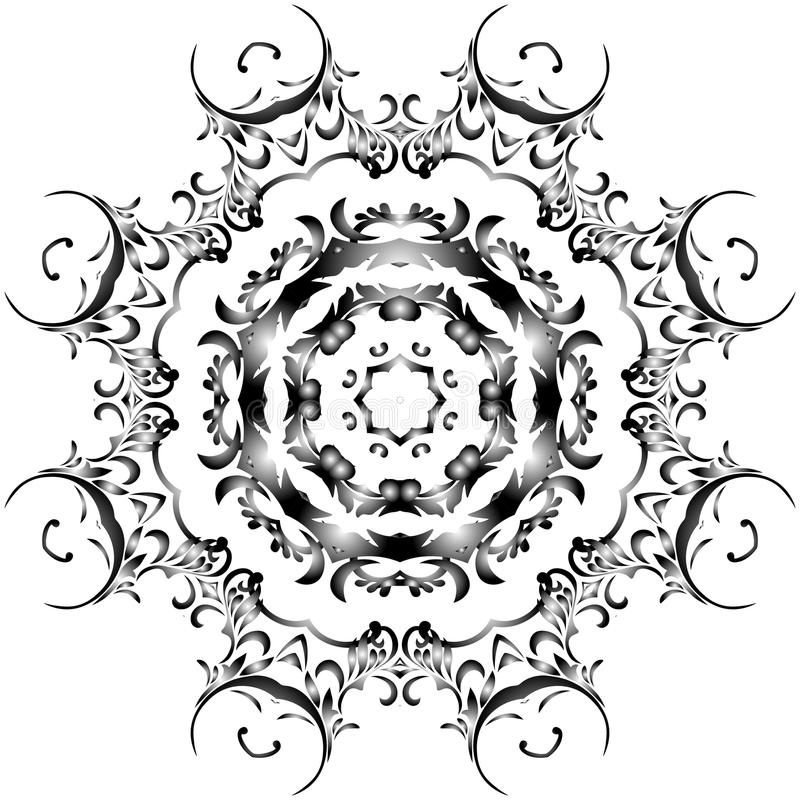Черная абстракция на белой предпосылке стоковые изображения rf