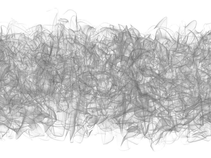 Черная абстракция: форма перегара на белизне иллюстрация штока