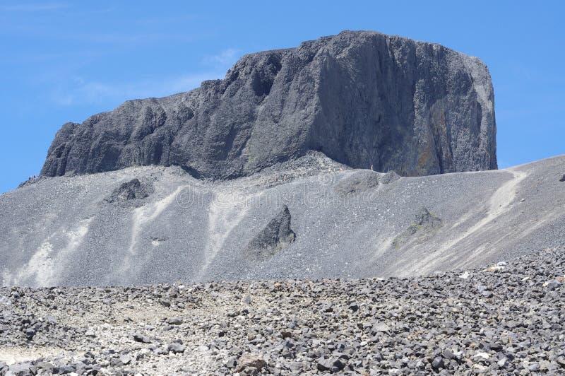 Черная башенка бивня вулканических пород стоковые фото