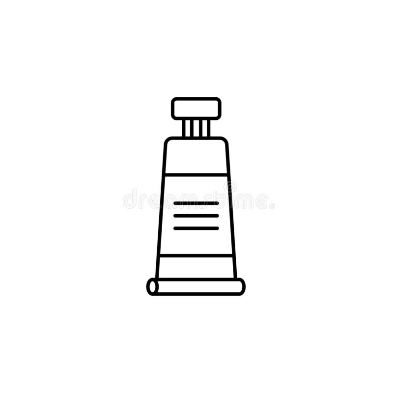 Черная & белая иллюстрация вектора закрытой трубки краски Линия ico бесплатная иллюстрация
