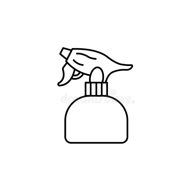 Черная & белая иллюстрация вектора пустой пластиковой бутылки брызг бесплатная иллюстрация