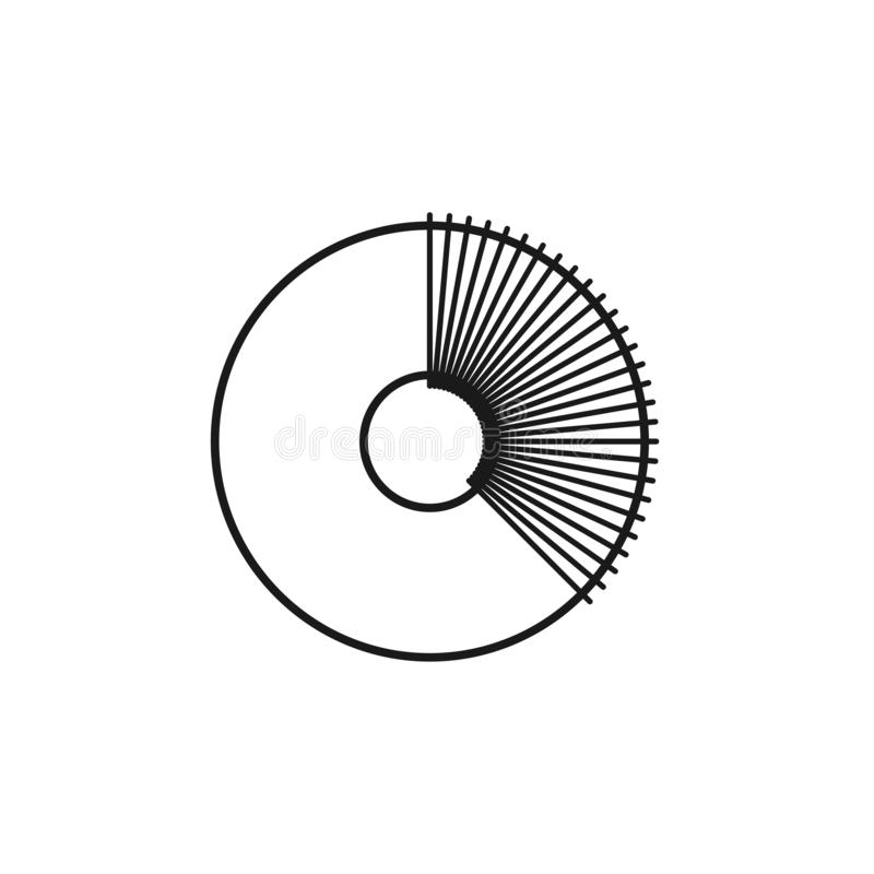 Черная & белая иллюстрация вязать создателя pom pom вязания крючком Линия значок вектора ремесла иглы шарика пушка pompom diy изо бесплатная иллюстрация