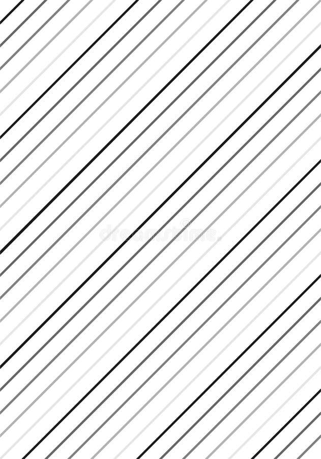 Черная & белая картина нашивок иллюстрация вектора