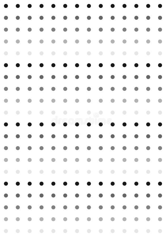Черная & белая картина точек иллюстрация вектора