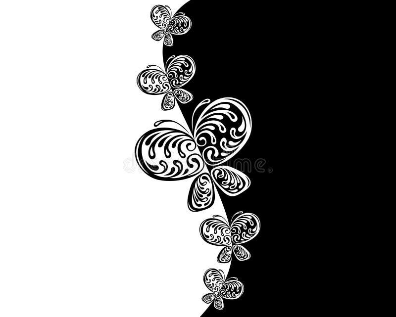 черная белизна бабочки стоковая фотография rf