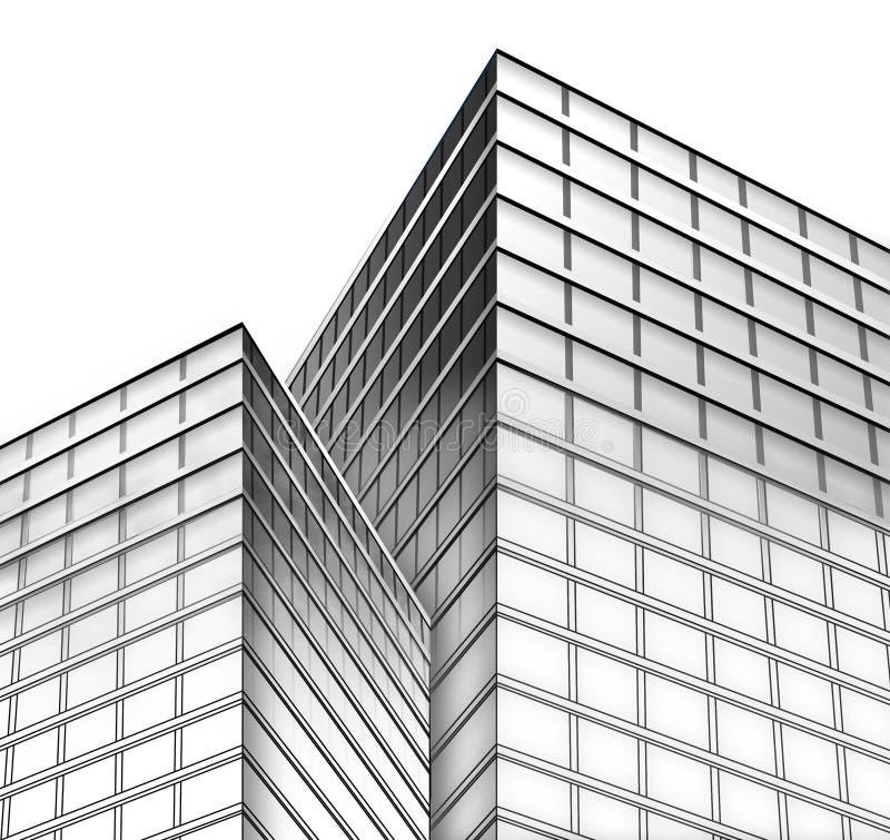 черная белизна города зданий бесплатная иллюстрация