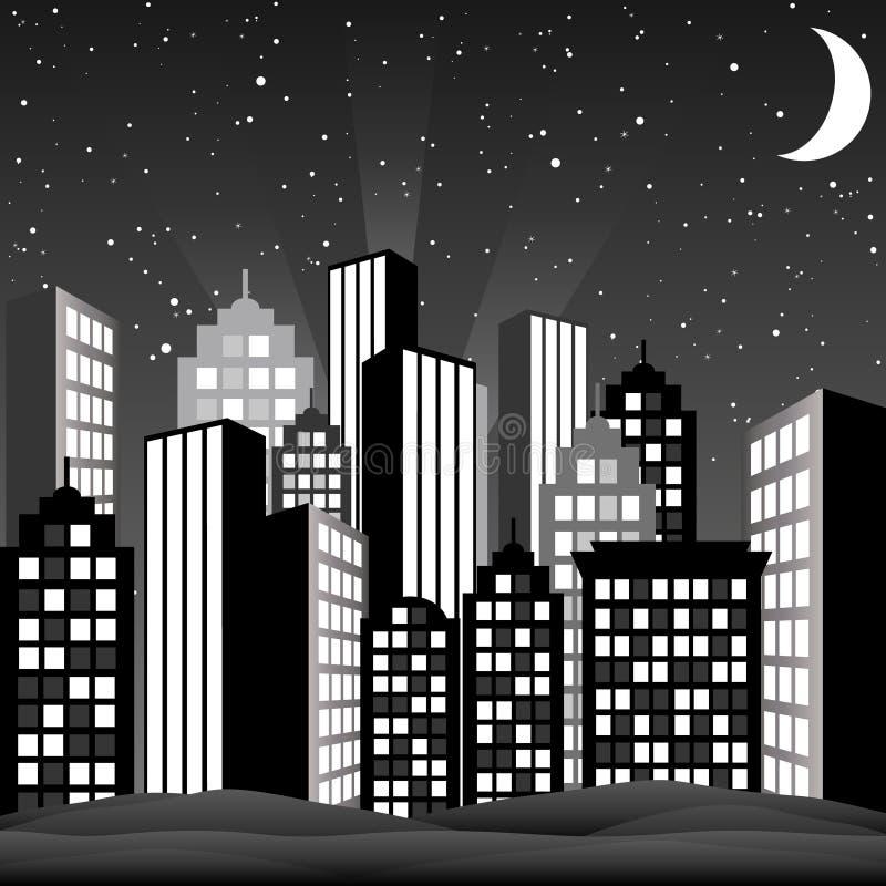 черная белизна городского пейзажа бесплатная иллюстрация