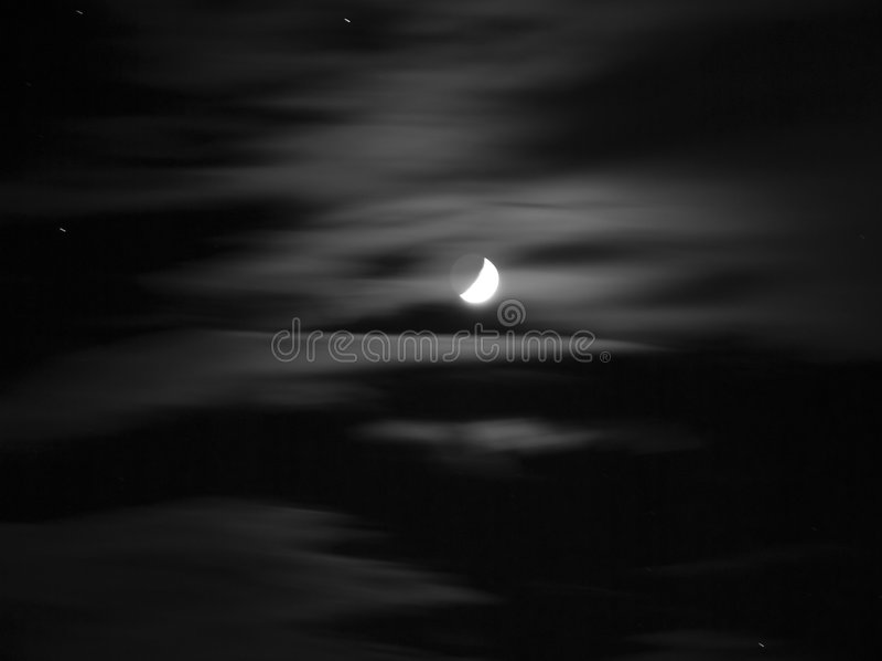 черная белизна луны стоковая фотография rf