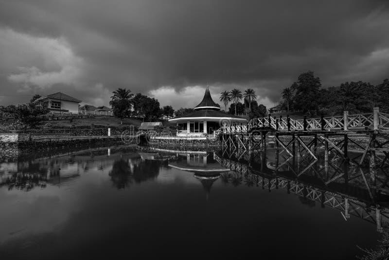 Черная белизна остров Индонезия Pagoda2 Singkep стоковые фото