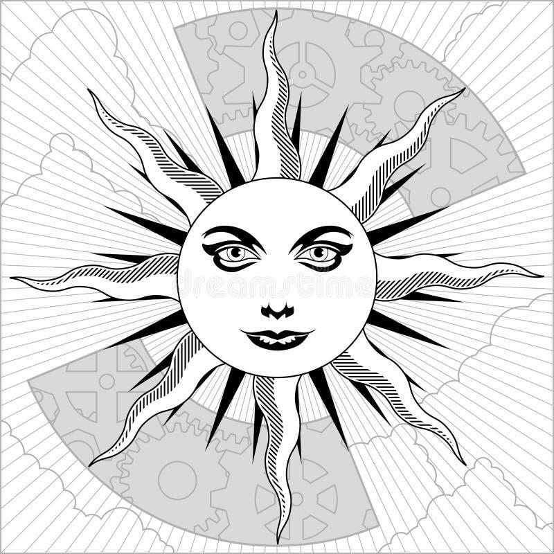 черная белизна солнца бесплатная иллюстрация